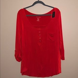 Love & Legend size 1X red top BNWT
